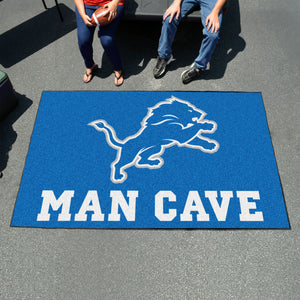 NFL - Detroit Lions Man Cave UltiMat 5'x8' Rug