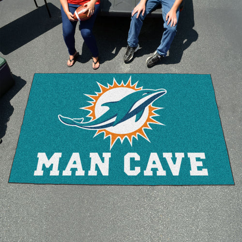 nfl duty com miami mat fanmats car vinyl rug dp heavy dolphins amazon
