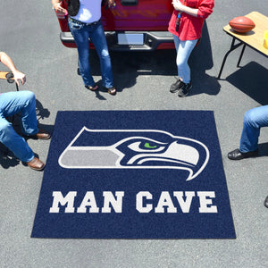 NFL - Seattle Seahawks Man Cave Tailgater Rug 5'x6'