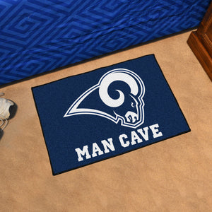 "NFL - Los Angeles Rams Man Cave Starter Rug 19""x30"""