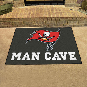 "NFL - Tampa Bay Buccaneers Man Cave All-Star Mat 33.75""x42.5"""
