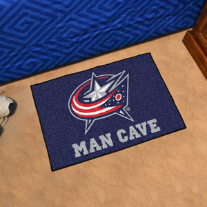 "NHL - Columbus Blue Jackets Man Cave Starter Rug 19""x30"""