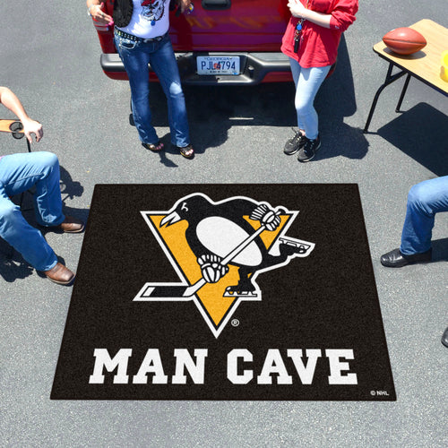 NHL - Pittsburgh Penguins Man Cave Tailgater Rug 5'x6'