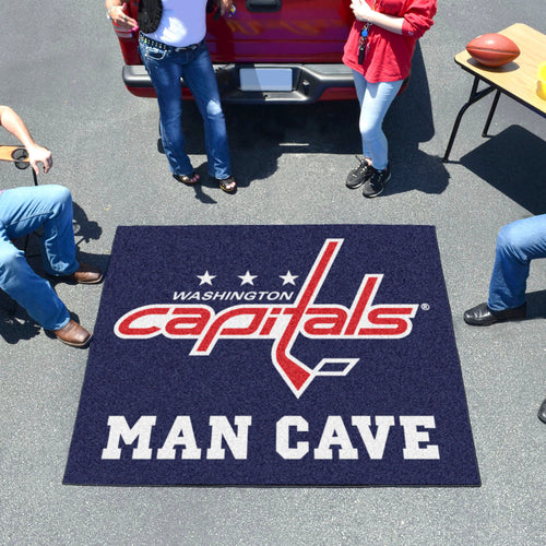 NHL - Washington Capitals Man Cave Tailgater Rug 5'x6'
