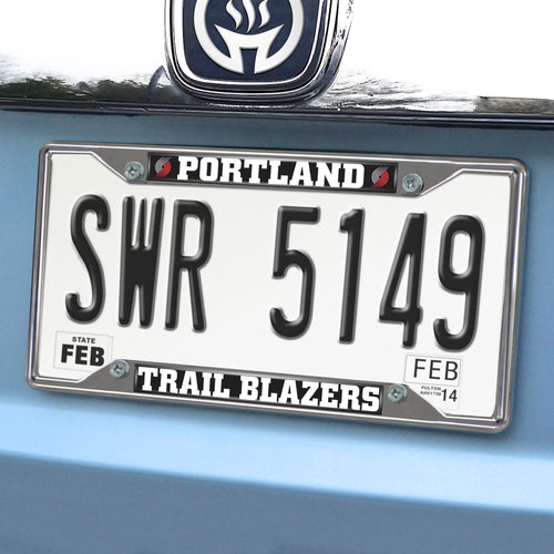 NBA - Portland Trail Blazers License Plate Frame 6.25
