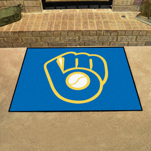 "MLB - Milwaukee Brewers ""Glove"" All-Star Mat 33.75""x42.5"""