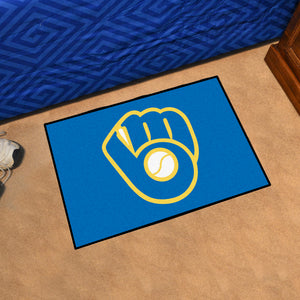 "MLB - Milwaukee Brewers ""Glove"" Starter Rug 19""x30"""
