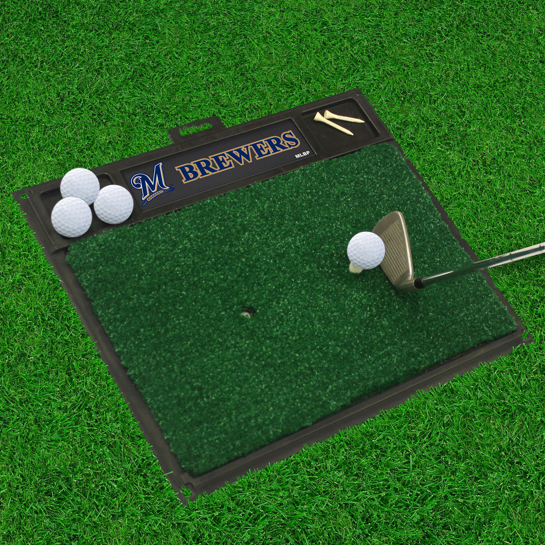 MLB - Milwaukee Brewers Golf Hitting Mat 20