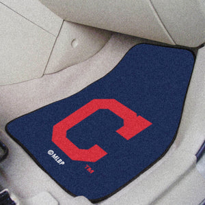 "MLB - Cleveland Indians ""Block-C"" 2-pc Carpeted Car Mats 17""x27"""