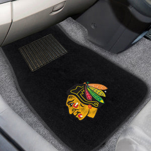 "NHL - Chicago Blackhawks 2-pc Embroidered Car Mats 18""x27"""