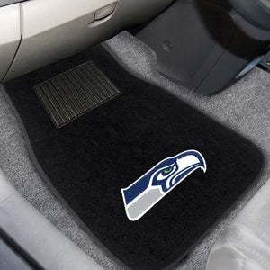 "NFL - Seattle Seahawks 2-pc Embroidered Car Mats 18""x27"""