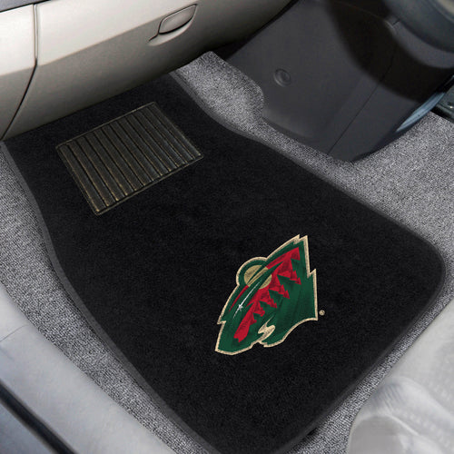 NHL - Minnesota Wild 2-pc Embroidered Car Mat Set
