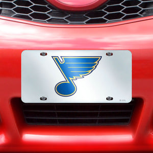 "NHL - St. Louis Blues License Plate Inlaid 6""x12"""