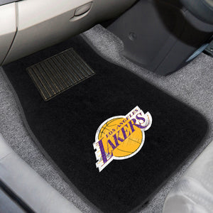 "NBA - Los Angeles Lakers 2-pc Embroidered Car Mats 18""x27"""