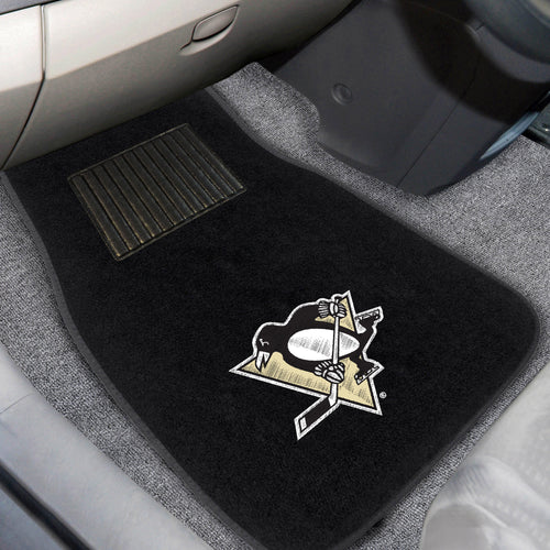 NHL - Pittsburgh Penguins 2-pc Embroidered Car Mats 18