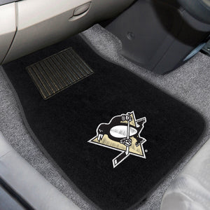 "NHL - Pittsburgh Penguins 2-pc Embroidered Car Mats 18""x27"""