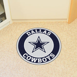 "NFL - Dallas Cowboys Round Mat 27"" diameter"