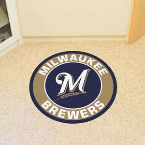 "MLB - Milwaukee Brewers Round Mat 27"" diameter"