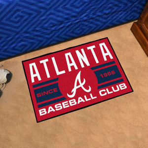 "Atlanta Braves Baseball Club Starter Rug 19""x30"""
