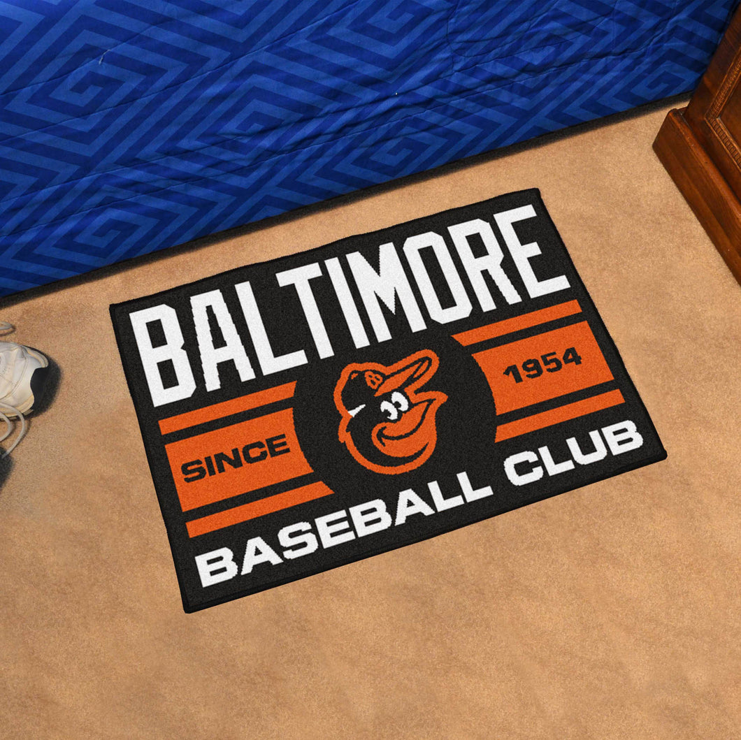 Baltimore Orioles Baseball Club Starter Rug 19