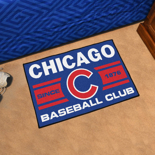 Chicago Cubs Baseball Club Starter Rug 19