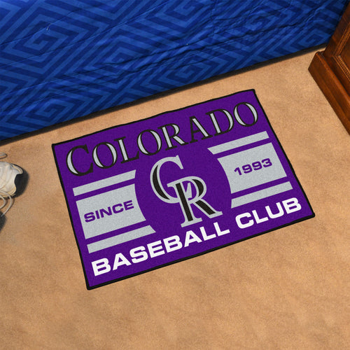 Colorado Rockies Baseball Club Starter Rug 19