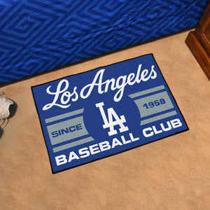 "Los Angeles Dodgers Baseball Club Starter Rug 19""x30"""