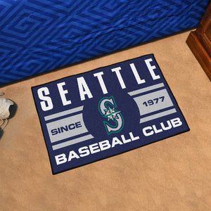 "Seattle Mariners Baseball Club Starter Rug 19""x30"""