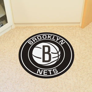 "NBA - Brooklyn Nets Round Mat 27"" diameter"