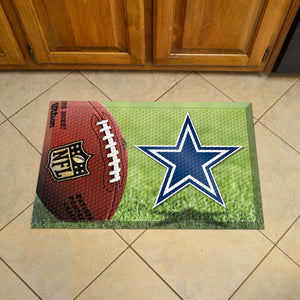 "NFL - Dallas Cowboys Scraper Mat 19""x30"" - Ball"