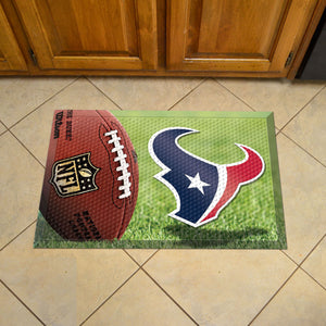 "NFL - Houston Texans Scraper Mat 19""x30"" - Ball"