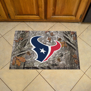 "NFL - Houston Texans Scraper Mat 19""x30"" - Camo"