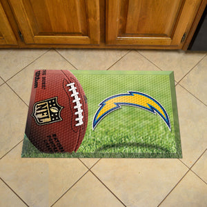 "NFL - Los Angeles Chargers Scraper Mat 19""x30"" - Ball"
