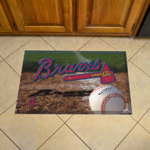 "MLB - Atlanta Braves Scraper Mat 19""x30"" - Ball"