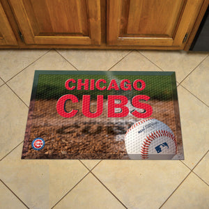 "MLB - Chicago Cubs Scraper Mat 19""x30"" - Ball"