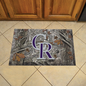"MLB - Colorado Rockies Scraper Mat 19""x30"" - Camo"