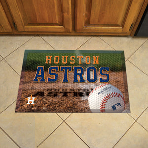 "MLB - Houston Astros Scraper Mat 19""x30"" - Ball"