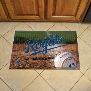 "MLB - Kansas City Royals Scraper Mat 19""x30"" - Ball"