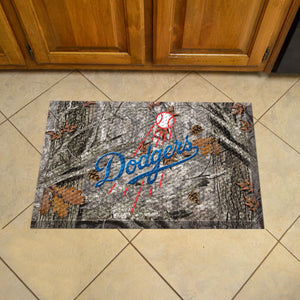 "MLB - Los Angeles Dodgers Scraper Mat 19""x30"" - Camo"