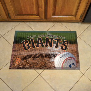 "MLB - San Francisco Giants Scraper Mat 19""x30"" - Ball"