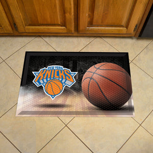 "NBA - New York Knicks Scraper Mat 19""x30"" - Ball"
