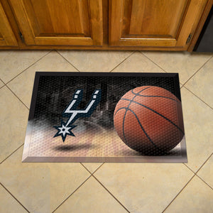 "NBA - San Antonio Spurs Scraper Mat 19""x30"" - Ball"