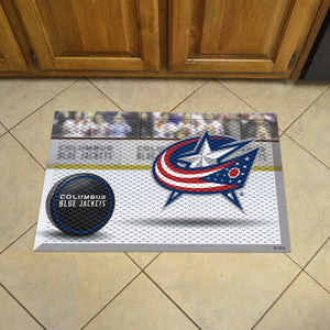 "NHL - Columbus Blue Jackets Scraper Mat 19""x30"" - Puck"