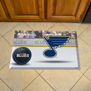 "NHL - St Louis Blues Scraper Mat 19""x30"" - Puck"