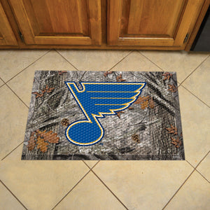 "NHL - St Louis Blues Scraper Mat 19""x30"" - Camo"