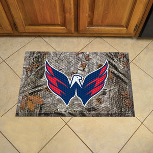 "NHL - Washington Capitals Scraper Mat 19""x30"" - Camo"