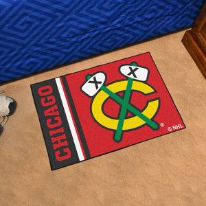 "Chicago Blackhawks Uniform Starter Rug 19""x30"""