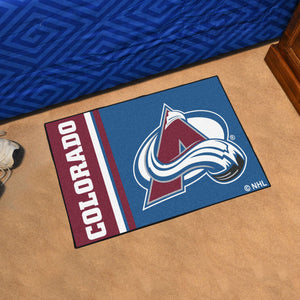 "Colorado Avalanche Uniform Starter Rug 19""x30"""