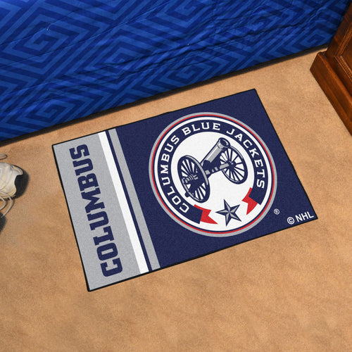 Columbus Blue Jackets Uniform Starter Rug 19