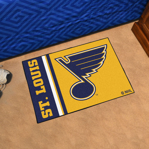 St Louis Blues Uniform Starter Rug 19